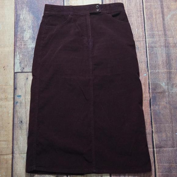 570ded4916 Eddie Bauer Dresses & Skirts - Eddie Bauer Corduroy Long Maxi Skirt